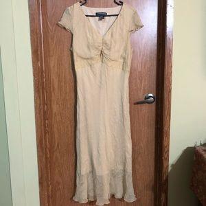 Jonathan Martin silk dress 14 cream short sleeve